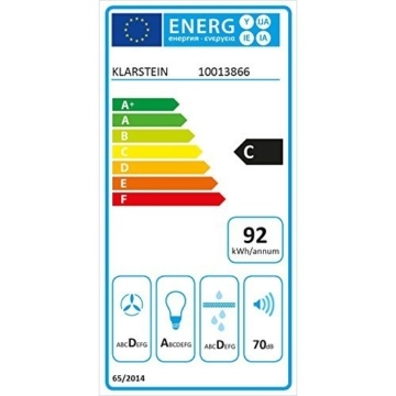 Klarstein RGL60BL energiellabel